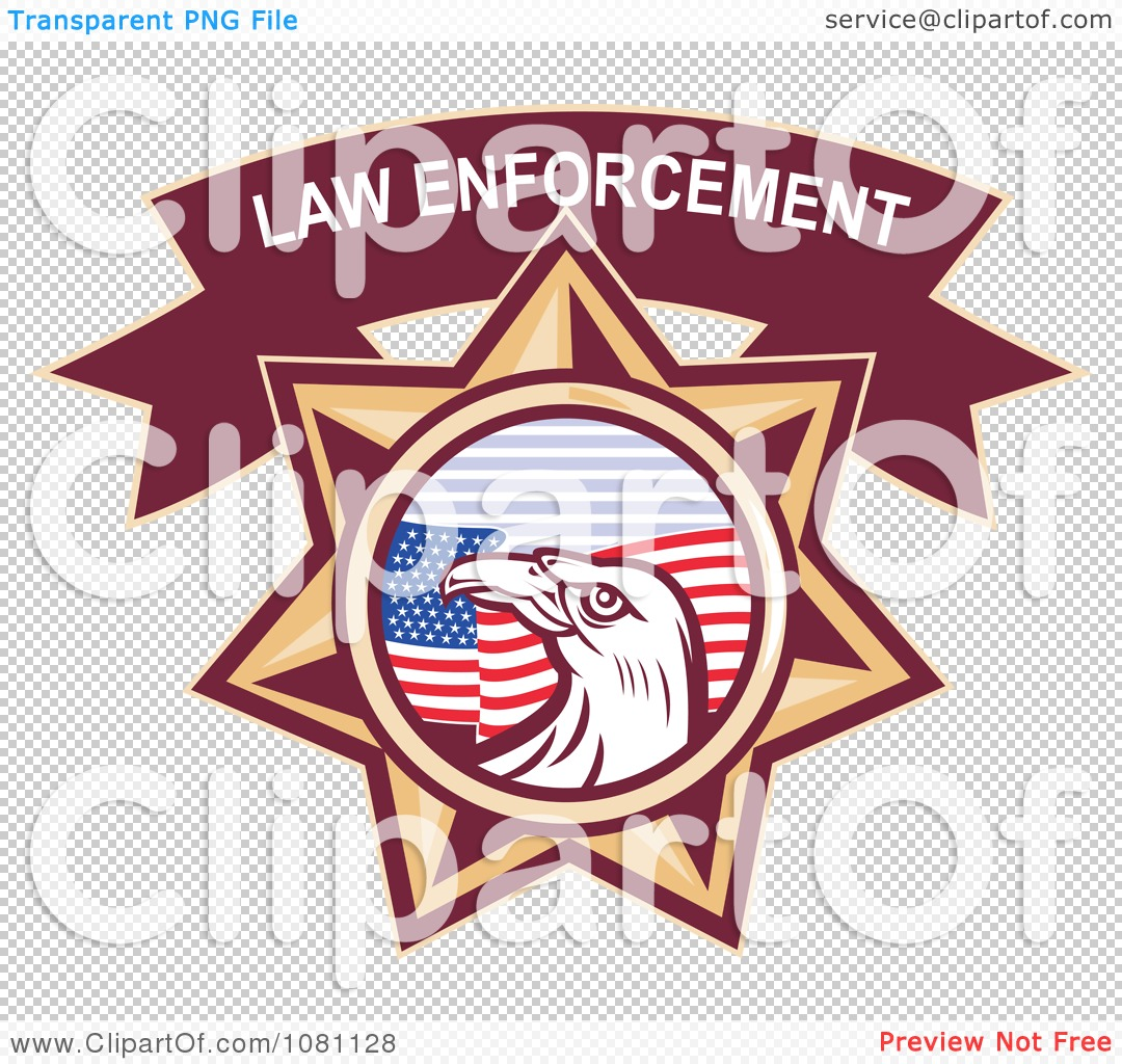 clipart law enforcement bald eagle and american flag star