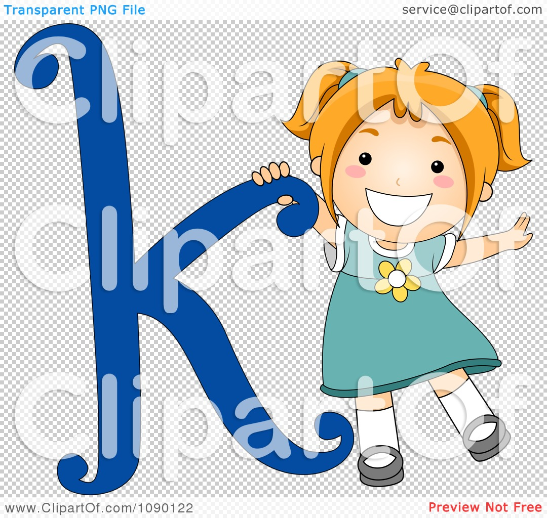 Clipart Letter Girl Child Royalty Free Vector Illustration Bnp