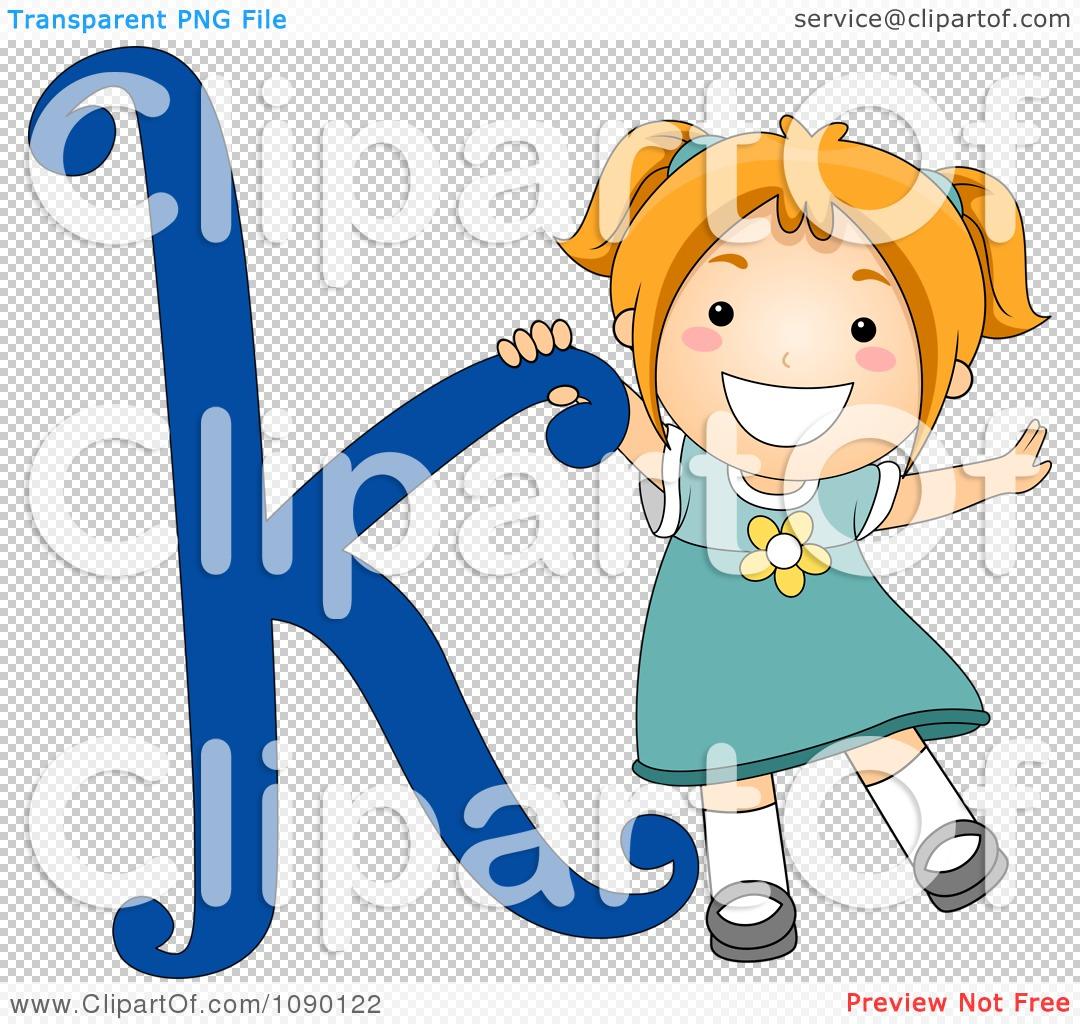 Clipart Letter Girl Child Royalty Free Vector Illustration Bnp