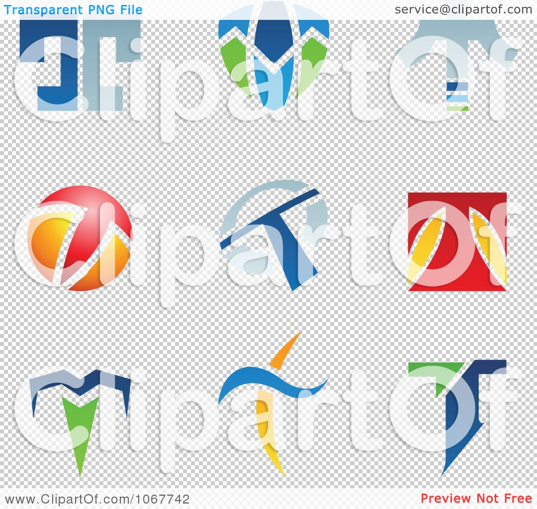 Clipart Letter T Logo Icons - Royalty Free Vector Illustration by ...