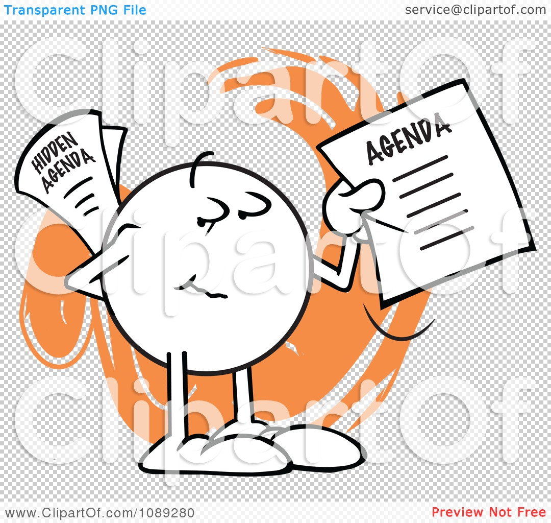 Clipart Moodie Character With A Hidden Agenda  Royalty