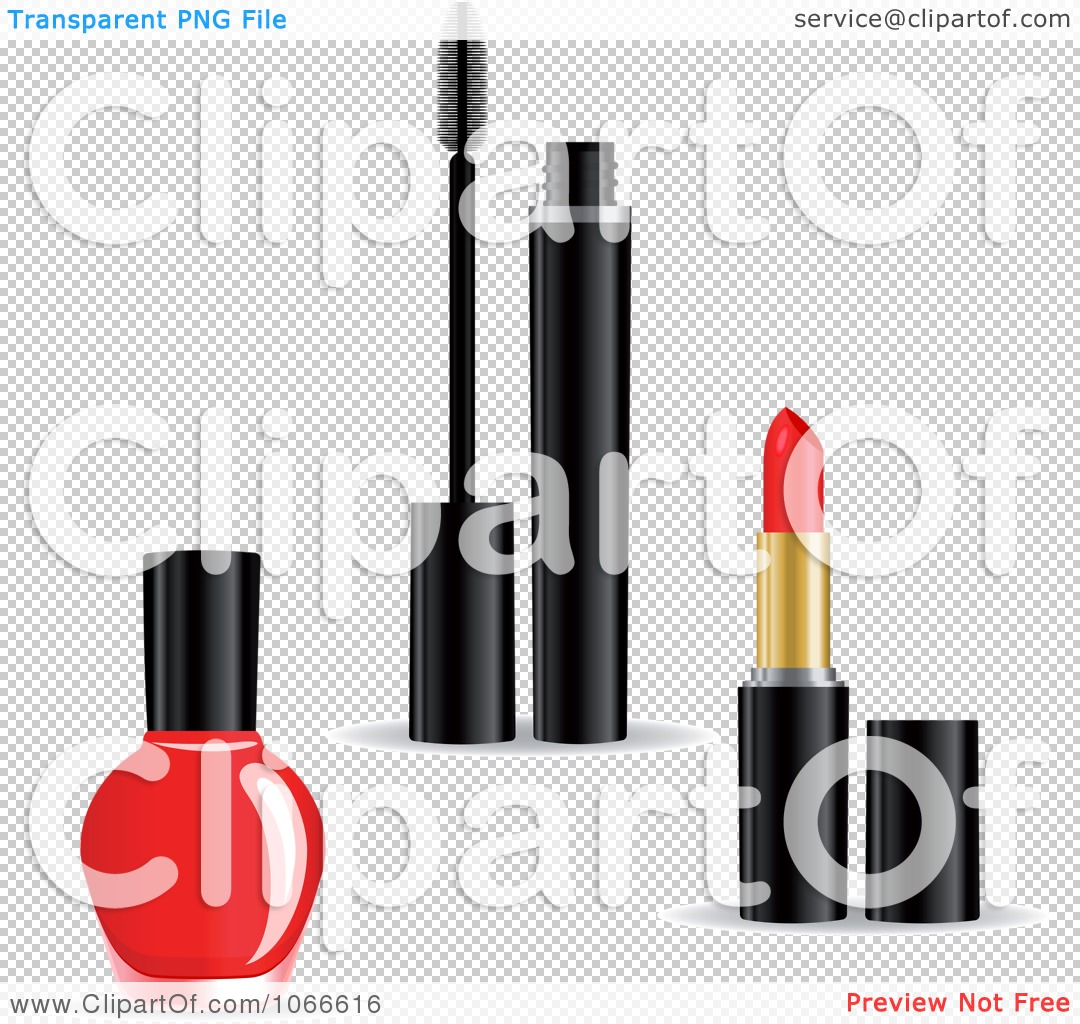 Clipart Nail Polish Mascara And Lipstick