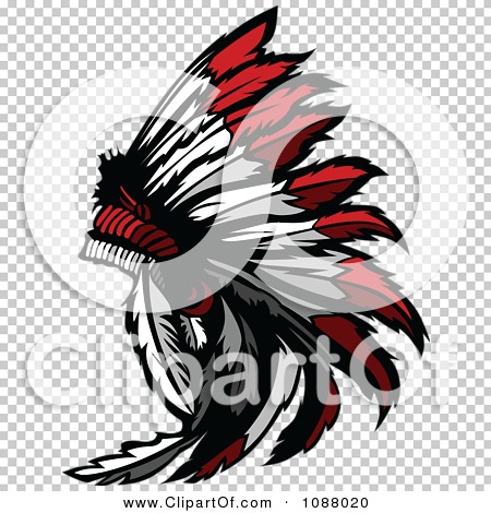 Clipart Native American Indian Chief Feather Headdress