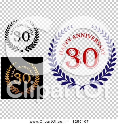 Clipart of 30 Year Anniversary Laurel Wreaths - Royalty Free ...