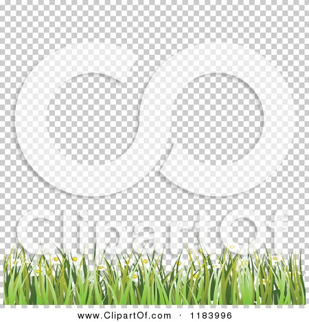 Clipart Of A Background White Copyspace With Grass And Spring