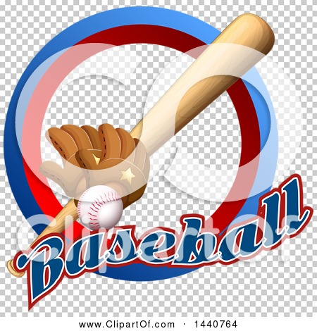 Clipart of a Baseball, Gloves and Bat in a Circle with ...