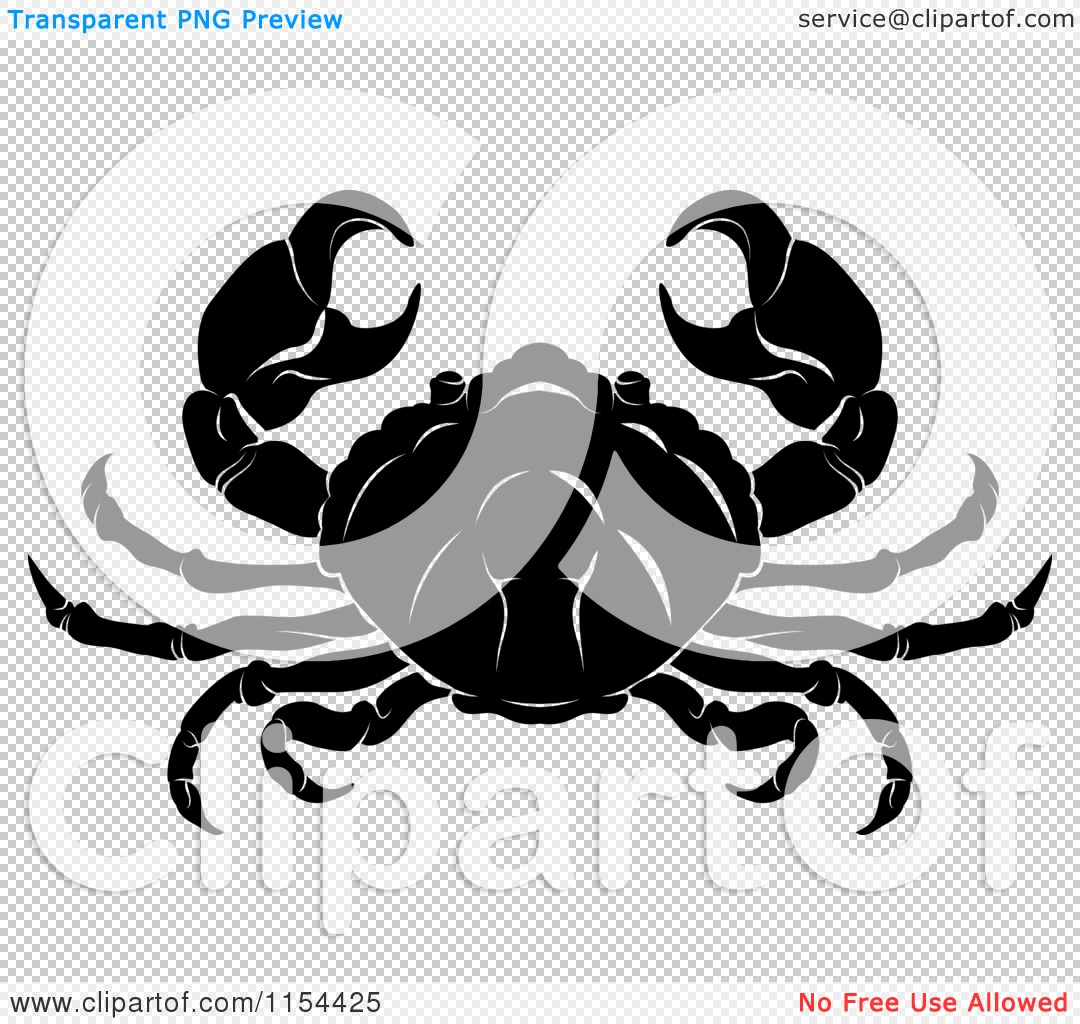Clipart of a Black and White Horoscope Zodiac Astrology Cancer ...