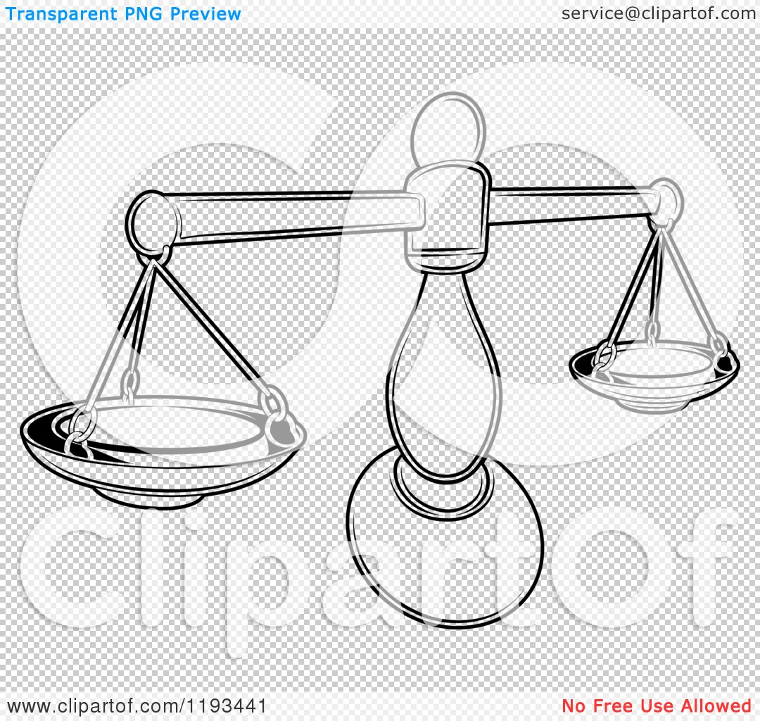 Zodiac Line Drawing : Clipart of a black and white line drawing the libra
