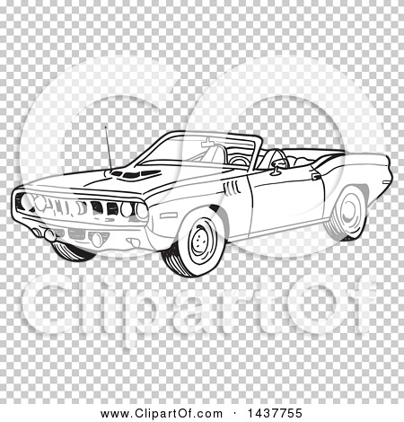 Muscle Car Vector Coloring Coloring Pages