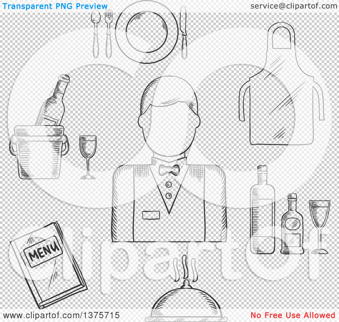 White apron catering menu - Png File Has A