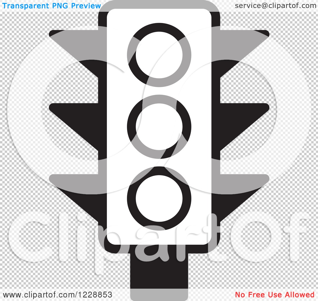 Black Ceiling Lamp Royalty Free Vector Image: Clipart Of A Black And White Traffic Light Icon