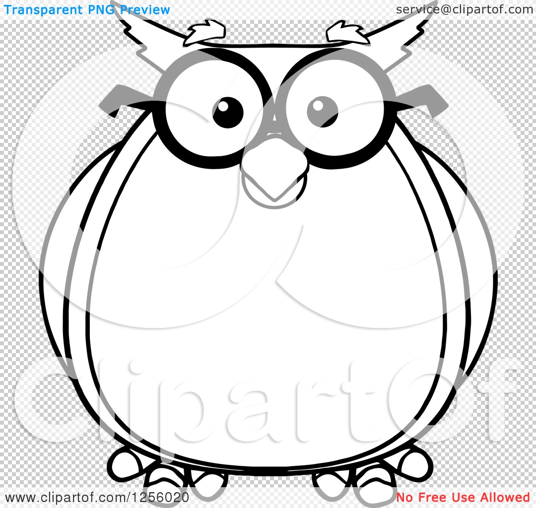 clipart of a black and white wise professor owl in glasses royalty rh clipartof com