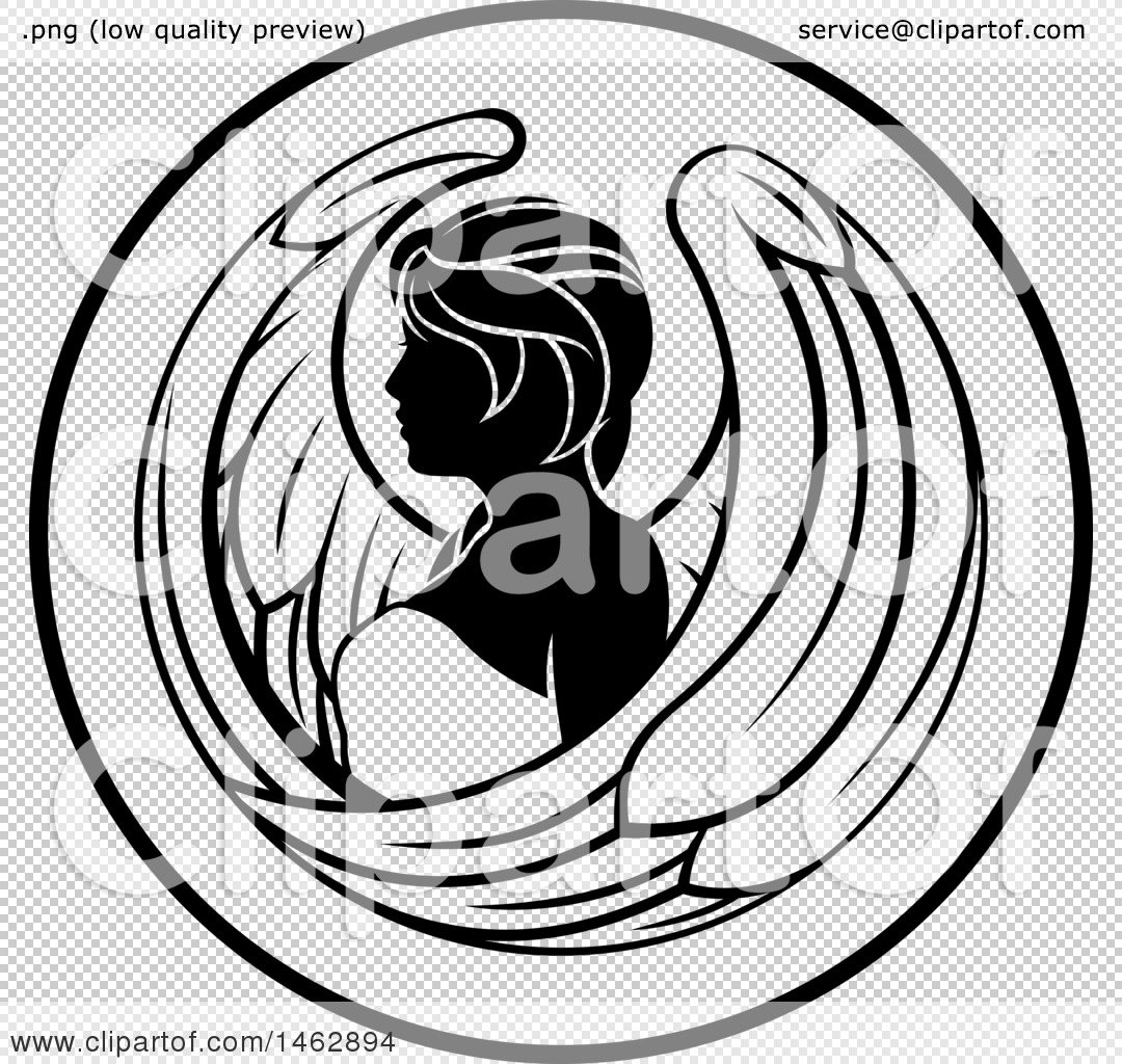 Clipart of a black and white zodiac horoscope astrology virgo circle png file has a buycottarizona Gallery