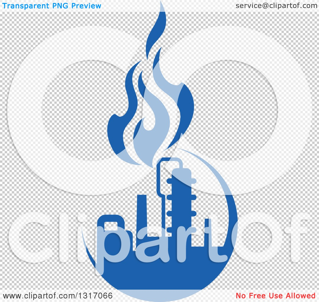 Clipart of a Blue Natural Gas and Flame Design 8 - Royalty Free ...