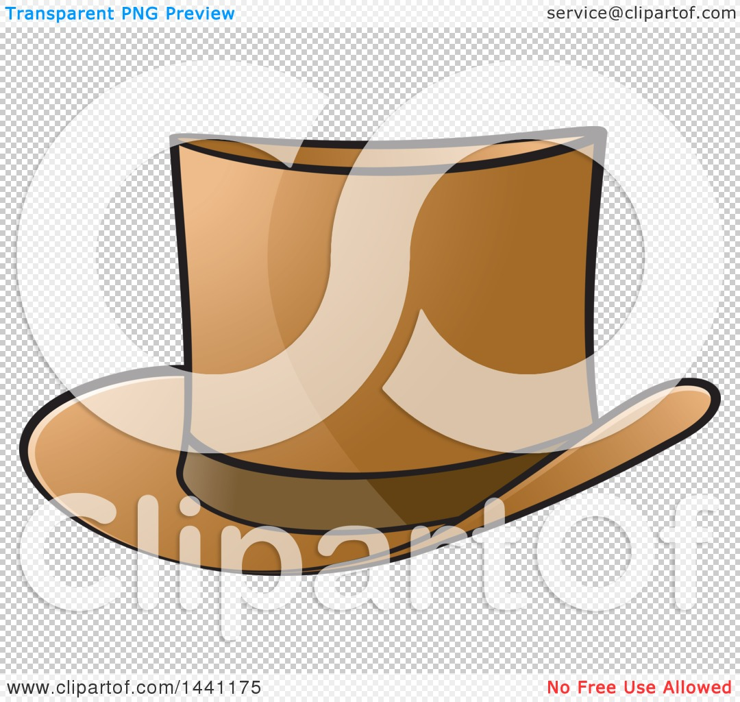 Clipart of a Brown Top Hat - Royalty Free Vector Illustration by Lal ... b5d98cf2684c