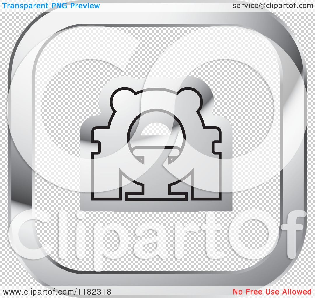 Clipart Of A CAT Scan Machine On A Silver And White Icon