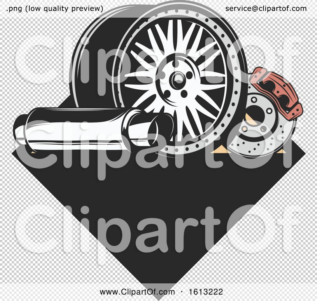 Clipart Of A Car Parts Automotive Design Royalty Free Vector