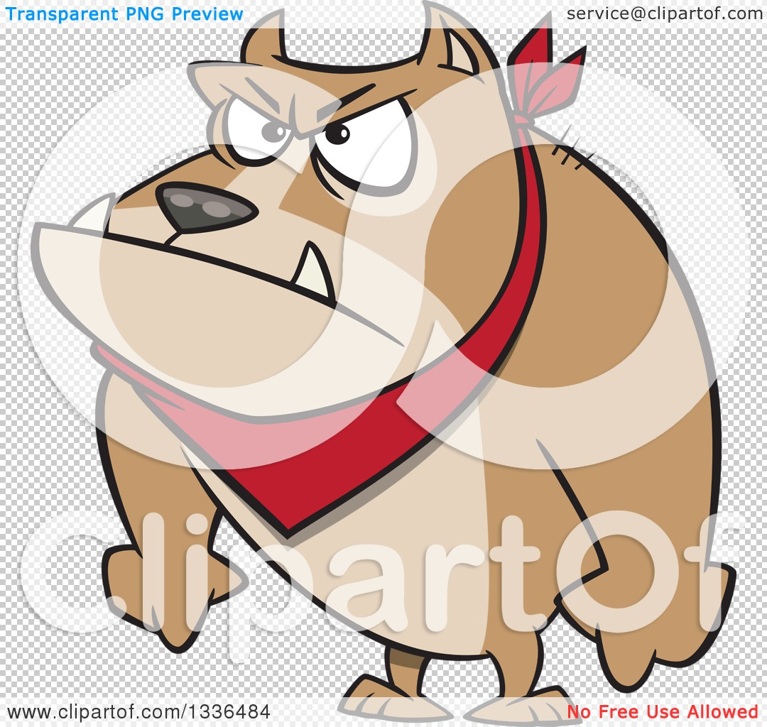 Clipart of a Cartoon Angry Pit Bull Dog with His Paws in Fists ...