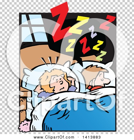 Clipart of a Cartoon Annoyed Caucasian Wife Wide Awake ...