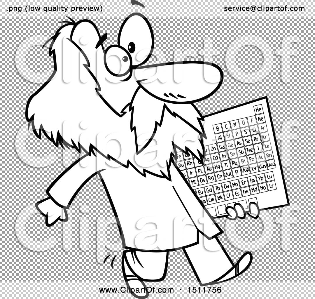 Clipart of a cartoon black and white man dmitri mendeleev png file has a gamestrikefo Choice Image