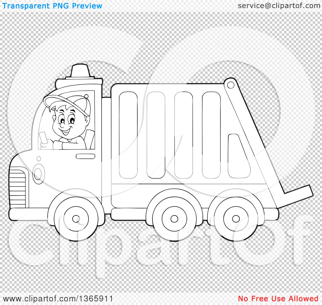 Free coloring pages garbage truck - Png File Has A