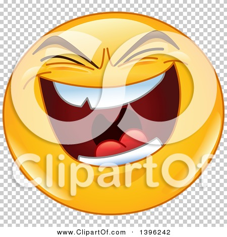 Clipart of a Cartoon Evil Laughing Yellow Smiley Face ...