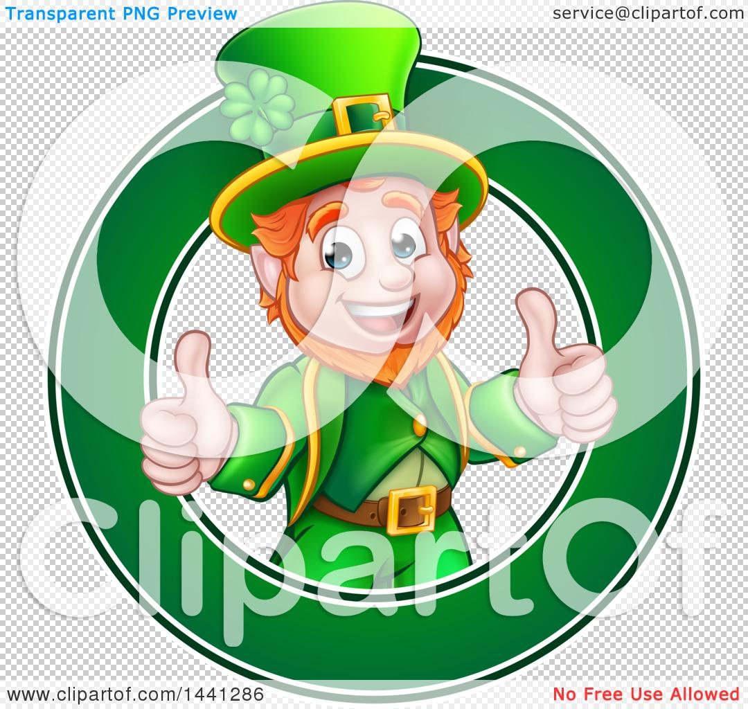 clipart of a cartoon friendly st patricks day leprechaun giving