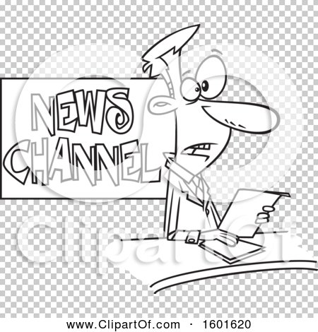 Royalty-Free (RF) Clipart of News Anchors, Illustrations