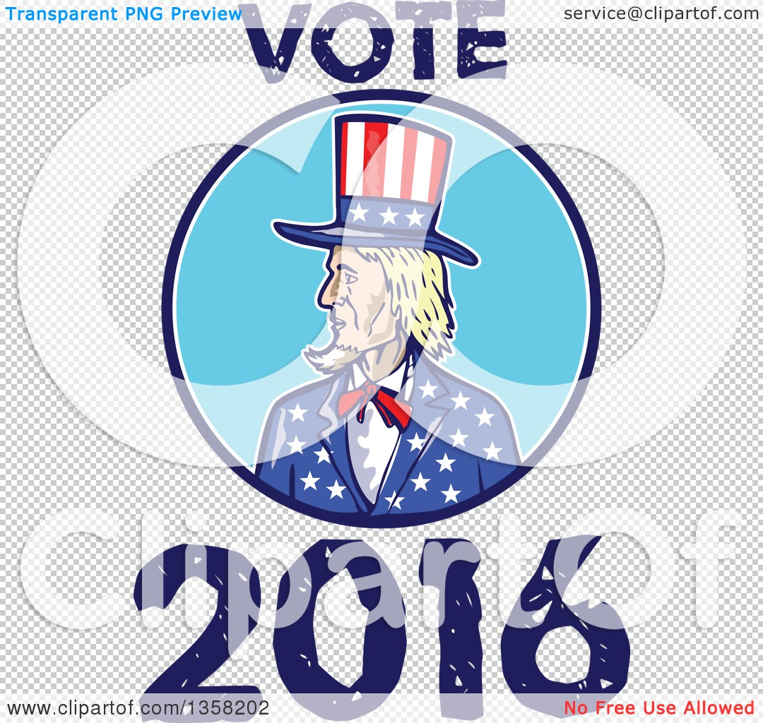 Clipart of a Cartoon Uncle Sam in an American Patiotic ...