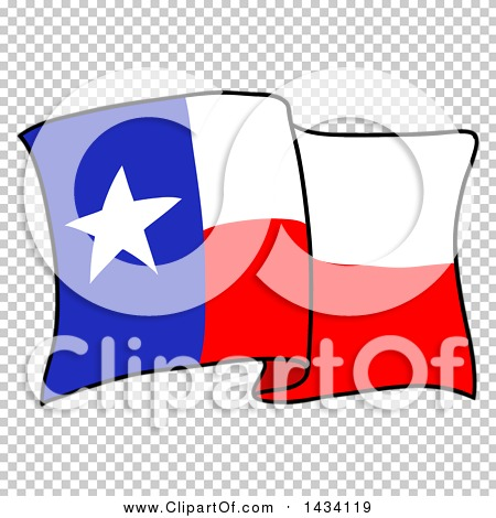 Clipart Of A Cartoon Waving Texas Flag