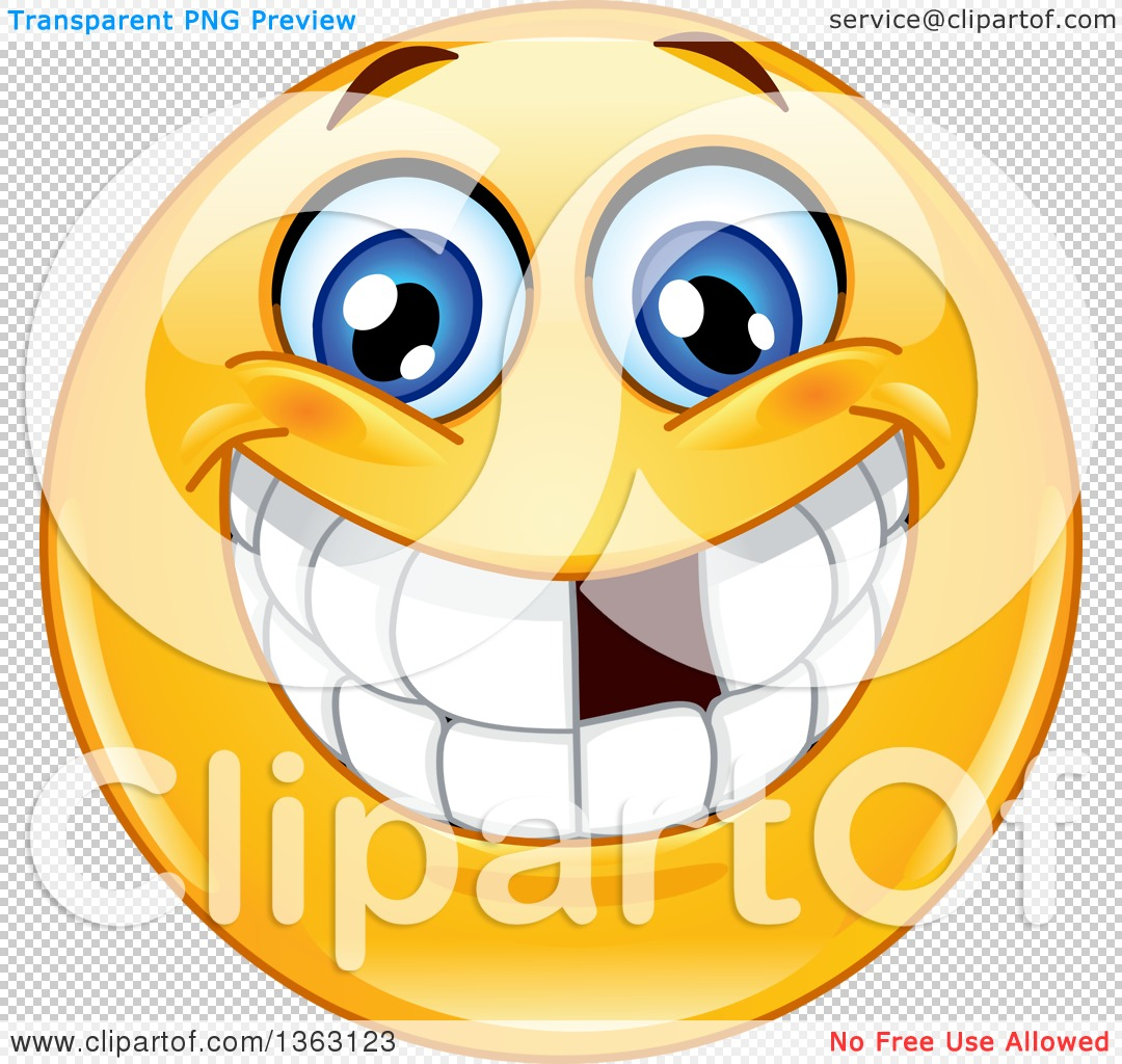 clipart of a cartoon yellow smiley face emoticon emoji grinning and rh clipartof com Crazy Smiley Face Clip Art Laughing Smiley Face Clip Art