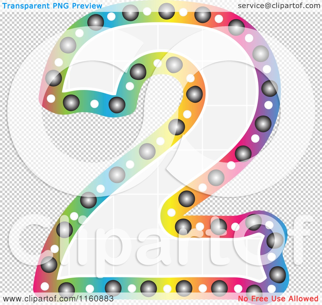 Clipart of a Colorful Number Two with a Grid Fill ...