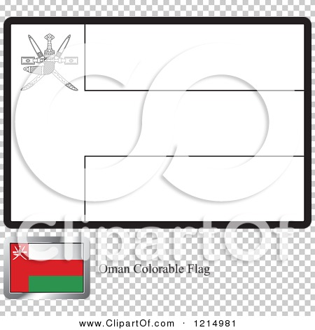 oman flag coloring page - clipart of a coloring page and sample for an oman flag