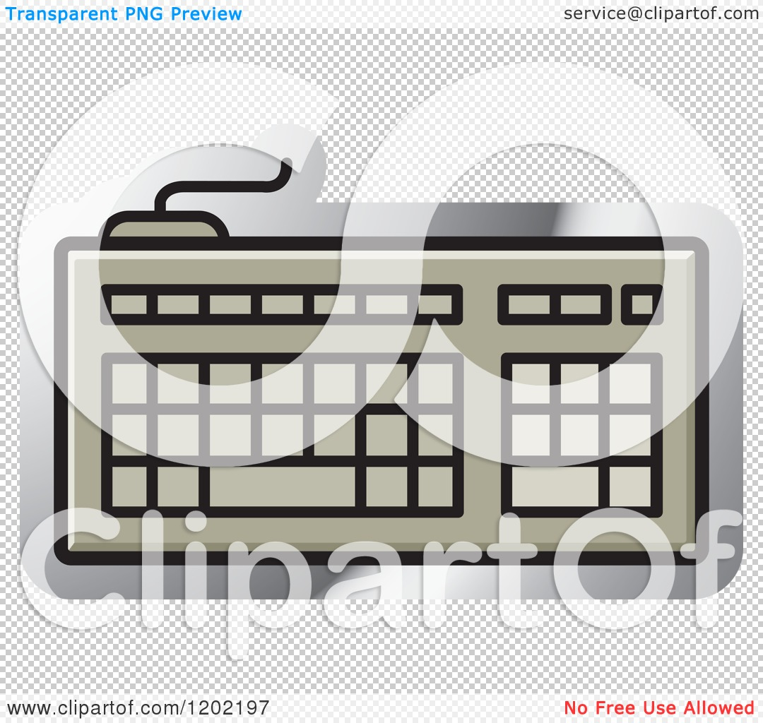 Clipart of a Computer Keyboard Icon - Royalty Free Vector Illustration