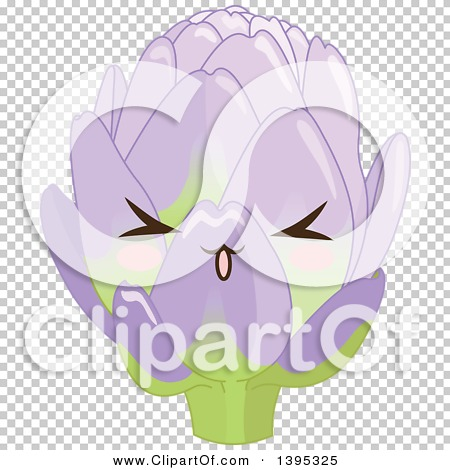 Clipart of a Cute Artichoke Character with Blushing Cheeks ...