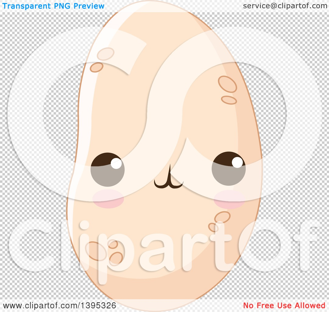 Clipart of a Cute Potato Character with Blushing Cheeks - Royalty ...