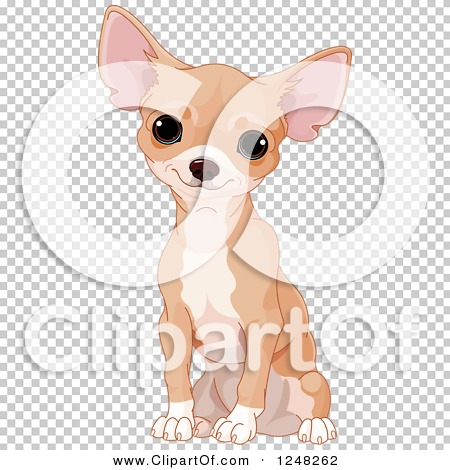 Clipart of a Cute Tan Chihuahua Dog Sitting - Royalty Free Vector ...