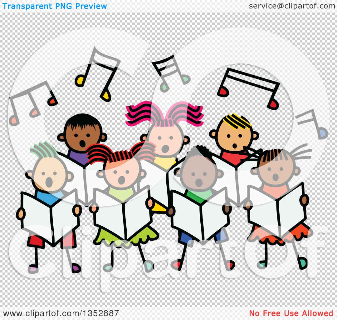 Clipart of a Doodled Toddler Art Sketched Group of ...