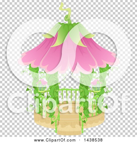 Clipart of a Fairy Garden Gazebo with Vines and Flowers - Royalty ...