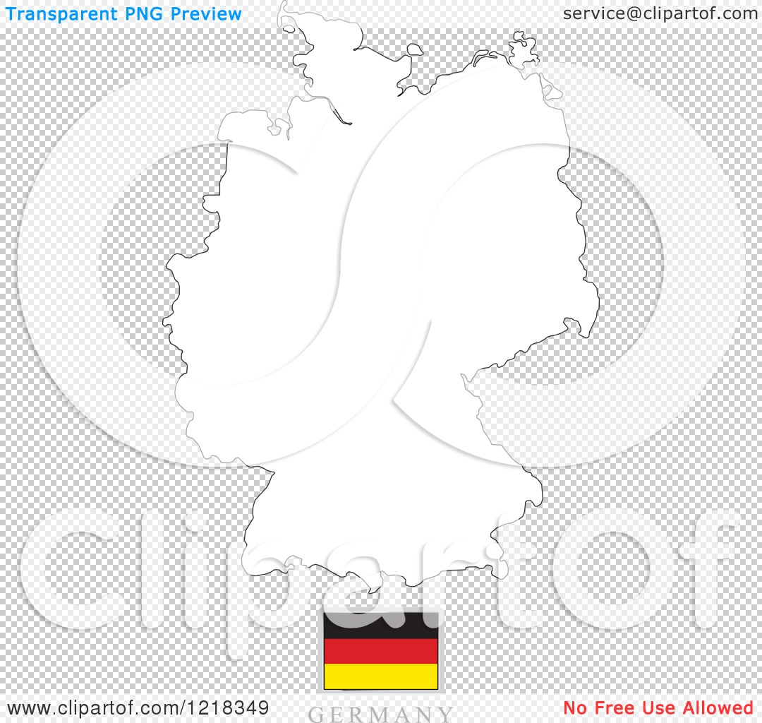 Germany map 3d blue royalty free stock vector art illustration