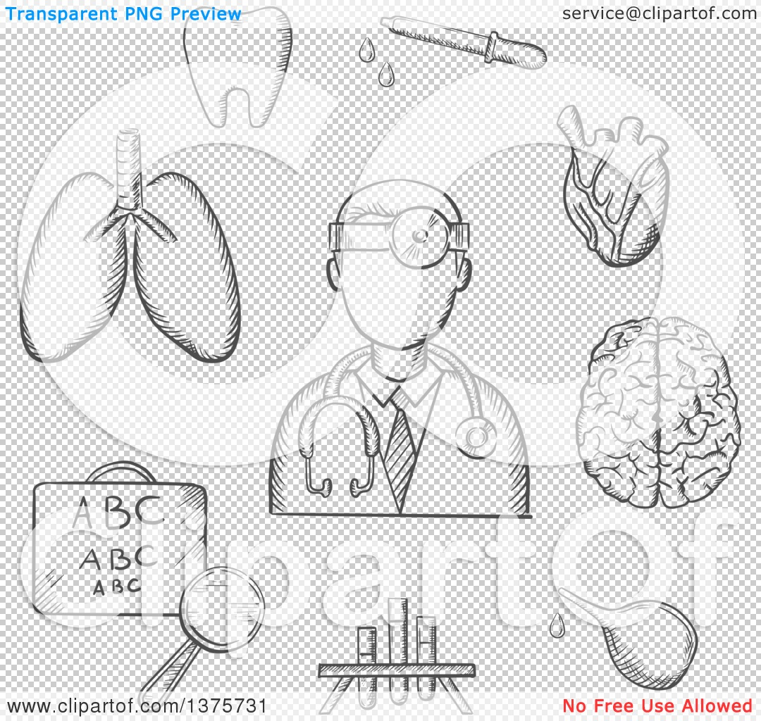 Clipart of a grayscale sketched doctor encircled by an eye chart png file has a geenschuldenfo Choice Image