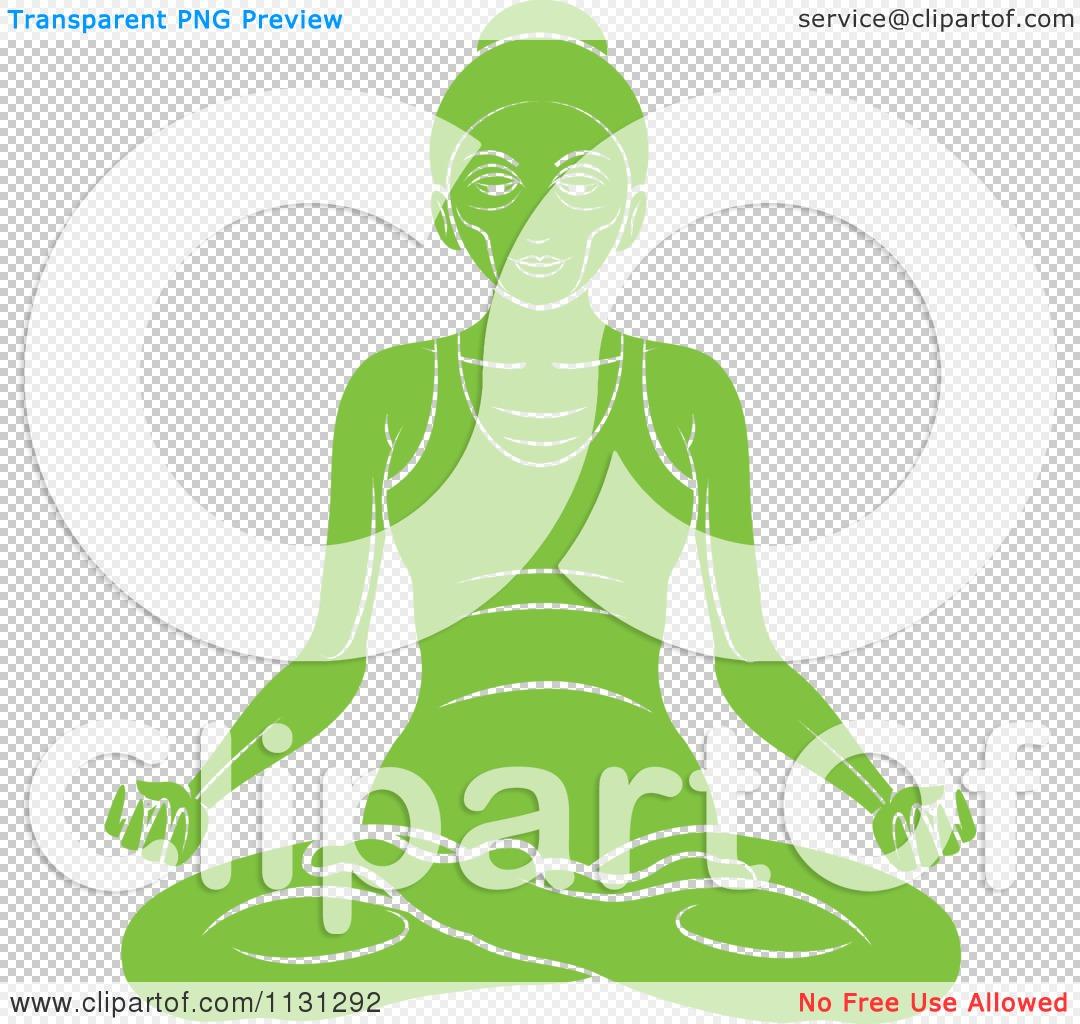 Clipart Of A Green Yoga Woman Meditating Royalty Free Vector Illustration By Lal Perera 1131292