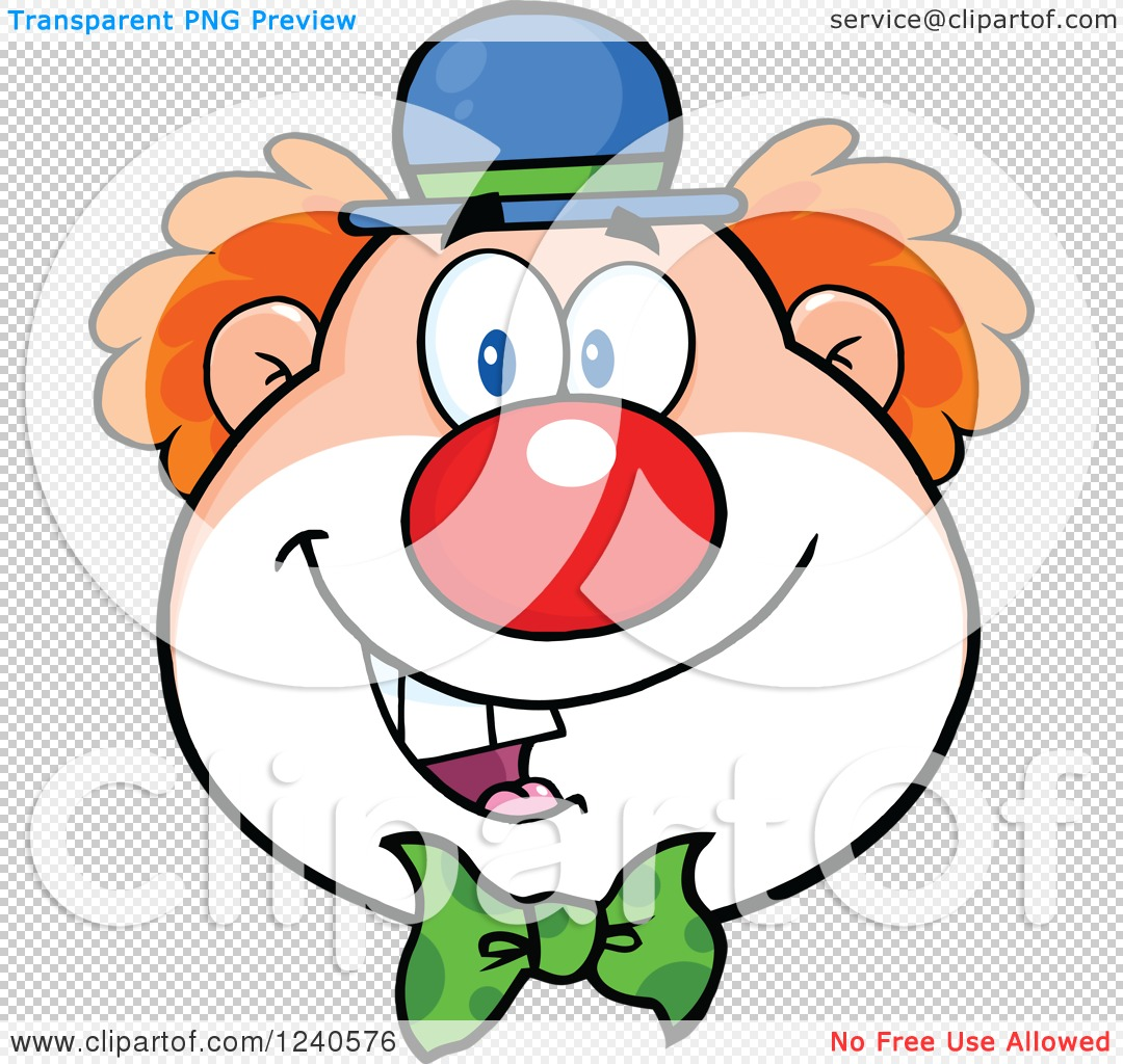 Clipart of a Happy Clown Face - Royalty Free Vector Illustration ...