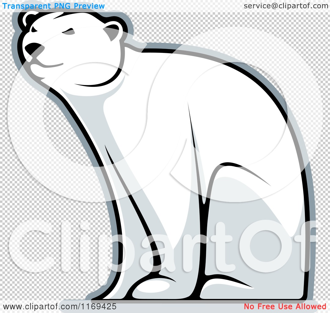 Cartoon Polar Bear Sitting Polar bear bear sitting.