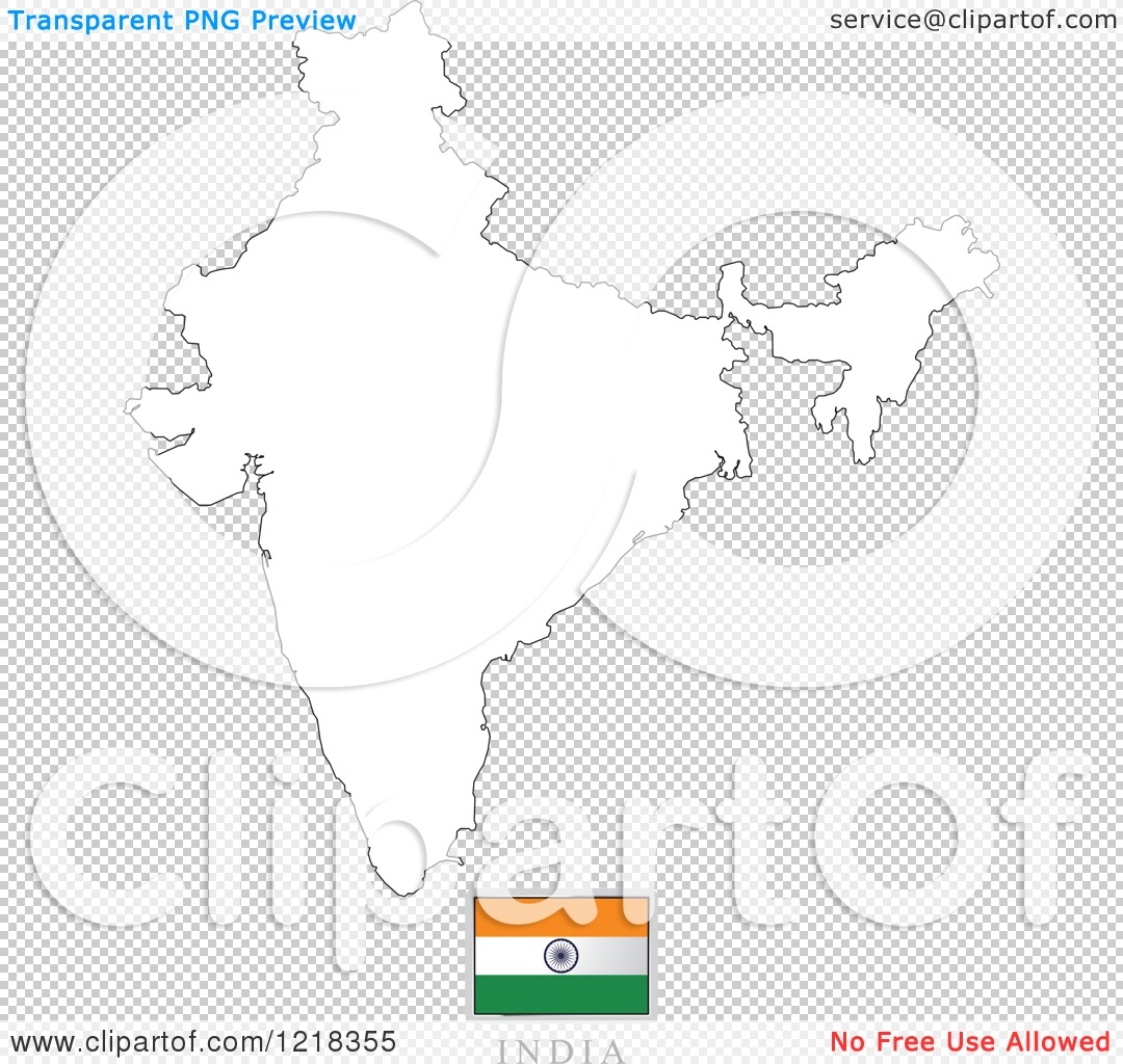 Clipart of a india flag and map outline royalty free vector png file has a transparent background gumiabroncs