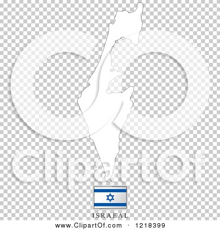 Clipart of a Israel Flag And Map Outline - Royalty Free Vector ...
