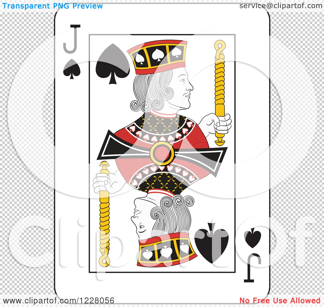Clipart of a Jack of Spades Playing Card - Royalty Free Vector ...