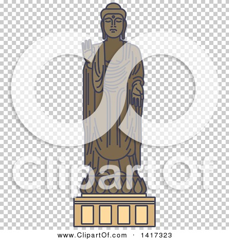 Clipart Of A Japanese Landmark Great Buddha Statue In Ushiku