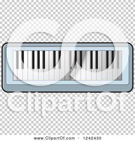Clipart of a Keyboard Piano Organ - Royalty Free Vector ...