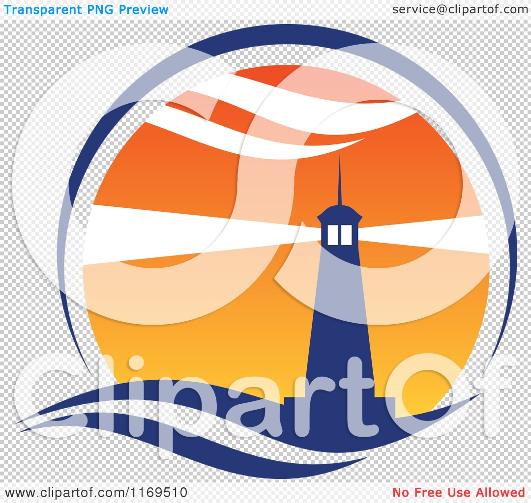 Clipart of a lighthouse and beacon at sunset 3 royalty for Free clipart animations